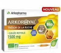 Arkoroyal Gelée Royale Bio Sans Sucre 1500mg Solution Buvable 20 Ampoules/10ml à Voiron