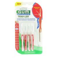 Gum Trav-ler 4 Brossettes Rouge Interdentaires 0.8mm à Voiron