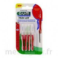 Gum Trav - Ler, 0,8 Mm, Manche Rouge , Blister 4 à Voiron