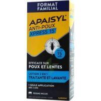 Apaisyl Anti-poux Xpress Lotion Antipoux Et Lente 300ml à Voiron