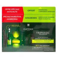 René Furterer Triphasic Progressive Sérum Antichute Coffret 8 Flacons X 5,5ml + Shampoing Stimulant 100 Ml à Voiron